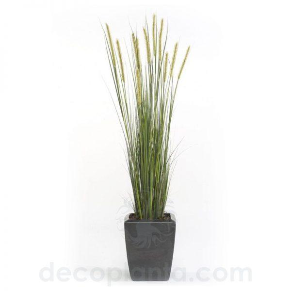 Planta artificial JUNCO de espiga estrecha para decorar interiores