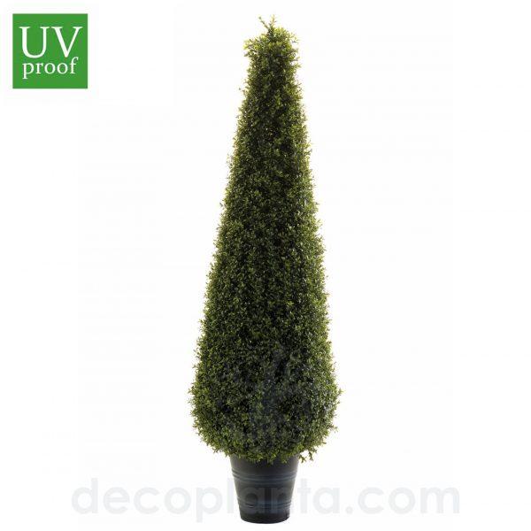 árbol BOJ artificial para exterior con forma de CONO, con protección UV