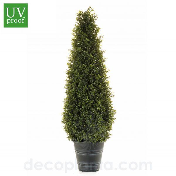 Árbol BOJ artificial para exterior con forma de CONO, DE 165 cm de altura, con protección UV