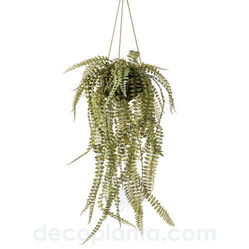 HELECHO colgante artificial con musgo en malla de alambre