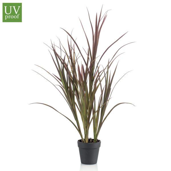 Arbusto tipo JUNCO artificialde 90 cm de alto con macetero básico