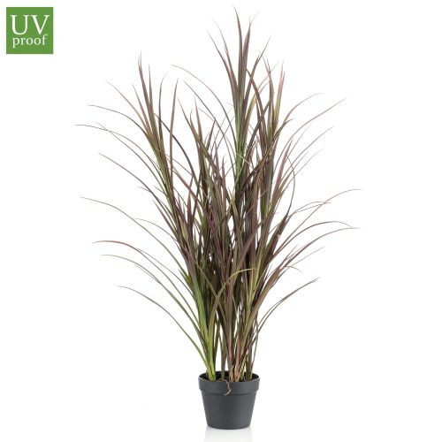 Arbusto tipo JUNCO artificialde 115 cm de alto con macetero básico