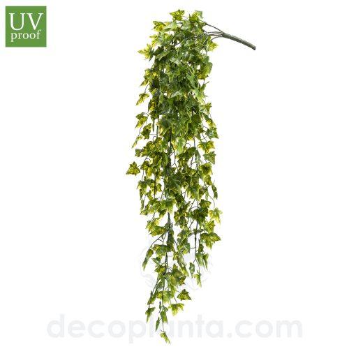 Arbusto colgante HIEDRA artificial de 75 cm de largo para exterior con protección UV