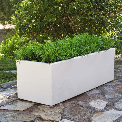 Jardinera de resina rectangular MAXIDECO