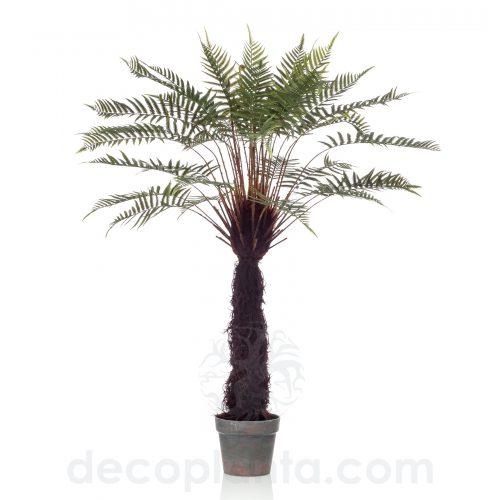 Árbol DICKSONIA EXOTIC de 125 cm de altura con gran tronco revestido pelaje natural