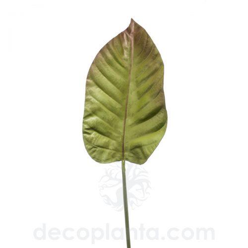 HOJA DE ANTURIO artificial color verde/marrón para diseñar tu propio jardín vertical. 100 cm de altura total. Combina bases de placas con hojas y plantas colgantes.