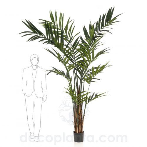 Árbol KENTIA MAXI artificial de gran altura. 270 cm y multi tronco revestido de hoja natural