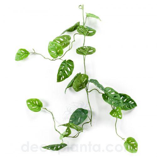 Planta colgante GUIRNALDA MONSTERA de 120 cm. Color verde