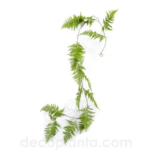 Planta colgante GUIRNALDA HELECHO artificial de 150 cm. Color verde