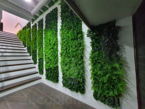 jardín vertical mixto en interior